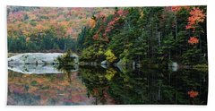 Beach Towel featuring the photograph Foggy Foliage Morning Kinsman Notch by Jeff Folger