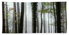 Beach Towel featuring the photograph Foggy Forest by Chevy Fleet