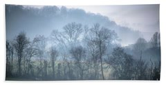 Foggy Hills Beach Towel