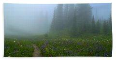 Beach Sheet featuring the photograph Foggy Morning At Tipsoo by Lynn Hopwood