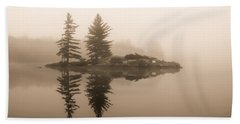 Foggy Morning Caution Beach Sheet