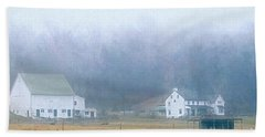 Foggy Morning Farm In West Chester, Pa Beach Towel