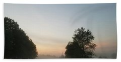Beach Towel featuring the photograph Foggy Morning In May by Maria Urso