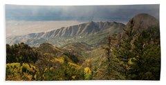 Foggy Mountain View Beach Towel