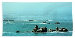 Sunny Blue Pacific Ocean Along The Oregon Coast Beach Towel