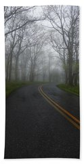 Foggy Road Beach Sheet