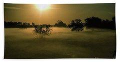 Foggy Sunrise Beach Towel