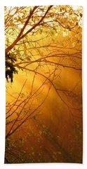 Foggy Sunset Beach Sheet