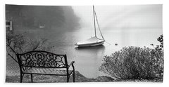 Foggy Tranquility Beach Sheet by Betsy Zimmerli