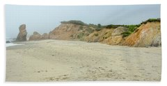 Foggy Vineyard Beach Beach Towel