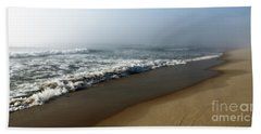 Foggy Waves Beach Sheet by Mary Haber