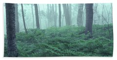 Foggy Woodland Beach Sheet