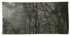 Foggy Woods Photo  Beach Towel by Gina O'Brien