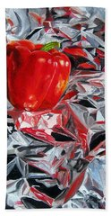 Foil Reflections Beach Towel