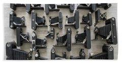 Folding Cameras Beach Sheet