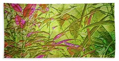 Beach Towel featuring the digital art Foliage by Mimulux patricia No