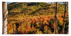 Foliage View From Crawford Notch Road Beach Towel