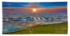 Follow The One True Light Beach Sheet