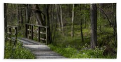 Beach Towel featuring the photograph Follow The Path by Andrea Silies