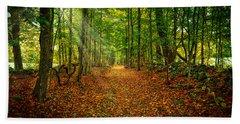 Follow The Yellow Leaf Road Beach Sheet