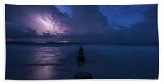 Folly Lightning Jetty Beach Towel