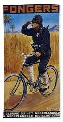 Fongers In Gebruik Bil Nederlandsche En Nederlndsch Indische Leger Vintage Cycle Poster Beach Towel