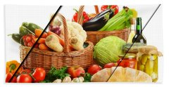 Food Collection Beach Towel