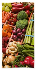 Food Compartments  Beach Towel by Garry Gay