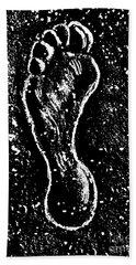 Beach Towel featuring the drawing Foot by Andrzej Szczerski
