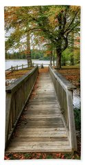 Foot Bridge At Linville Land Harbor Beach Towel