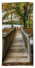 Foot Bridge At Linville Land Harbor Beach Sheet