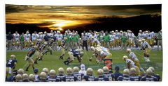 Football Field-notre Dame-navy Beach Sheet