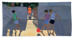 Footballers Beach Towel by Andrew Macara
