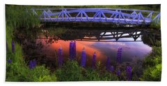 Footbridge Sunset Beach Towel