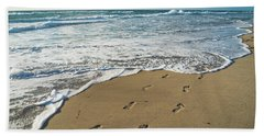 Footprints In The Sand Delray Beach Florida Beach Towel
