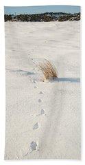 Footprints In The Snow II Beach Towel
