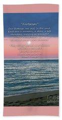 Footsteps Beach Sheet by Joseph J Stevens