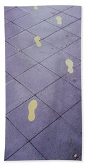 Footsteps On The Street Beach Towel
