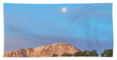 For God So Loved The World That He Created Mountains.  Beach Towel