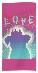 For The Love Of Pups Beach Towel by Melissa Goodrich