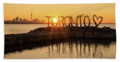 For The Love Of Toronto Beach Towel