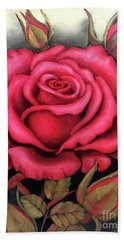For You, The Red Rose Beach Towel