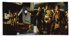 Forbidden Planet In Cinemascope Retro Classic Movie Poster Fighting The Invisible Alien Beach Towel