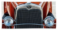 Beach Towel featuring the photograph Ford Coupe by Brad Allen Fine Art