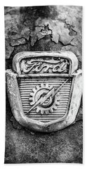 Ford Emblem On A Rusted Hood Verticle Beach Towel