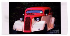 Beach Towel featuring the photograph 1934 Ford Coupe Hot Rod by Baggieoldboy