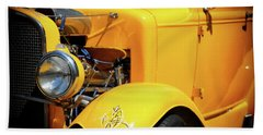Beach Towel featuring the photograph Ford Hot-rod by Jeremy Lavender Photography