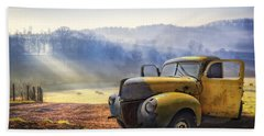 Beach Sheet featuring the photograph Ford In The Fog by Debra and Dave Vanderlaan
