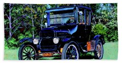 Ford Model T Beach Towel