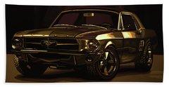 Ford Mustang 1967 Mixed Media Beach Towel